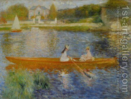 Pierre Auguste Renoir: The Seine At Asnieres Aka The Skiff - reproduction oil painting