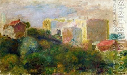 Pierre Auguste Renoir: View From Renoirs Garden In Montmartre - reproduction oil painting