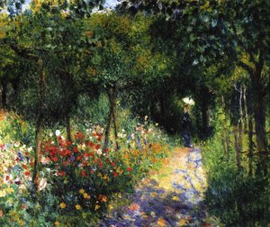 Famous paintings of Landscapes: Women In A Garden