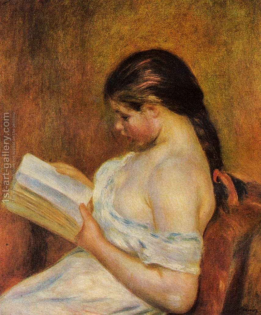 Huge version of Young Girl Reading