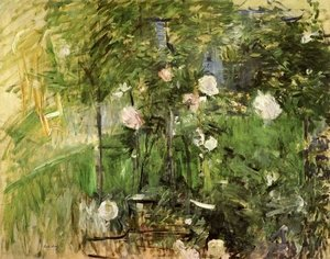 Berthe Morisot reproductions - A Corner Of The Rose Garden