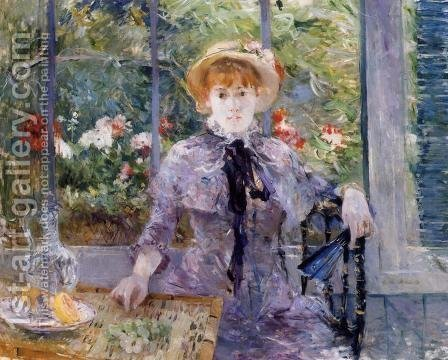 Berthe Morisot: After Luncheon - reproduction oil painting
