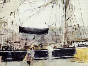 Berthe Morisot reproductions - Boat At Dock