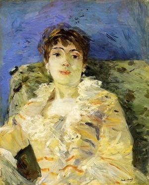 Reproduction oil paintings - Berthe Morisot - Young Woman On A Couch