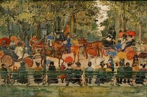 Famous paintings of Horses & Horse Riding: Central Park