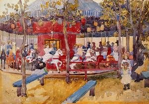 Famous paintings of Other: Merry Go Round  Nahant