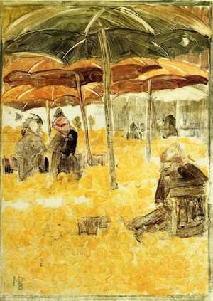Famous paintings of Markets: The Orange Market