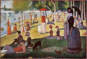 Pointillism painting reproductions: A Sunday Afternoon On The Island Of La Grande Jatte