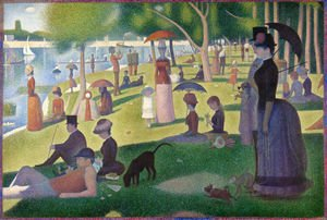 Famous paintings of Ships & Boats: Sunday Afternoon on the Island of la Grande Jatte  1886