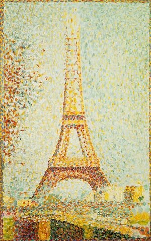 Pointillism painting reproductions: The Eiffel Tower 1889