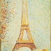 Oil painting reproductions - Pointillism - Georges Seurat: The Eiffel Tower 1889