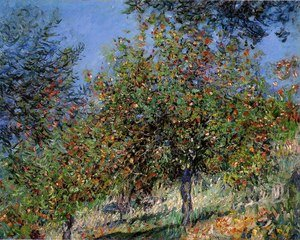 Famous paintings of Trees: Apple Trees On The Chantemesle Hill