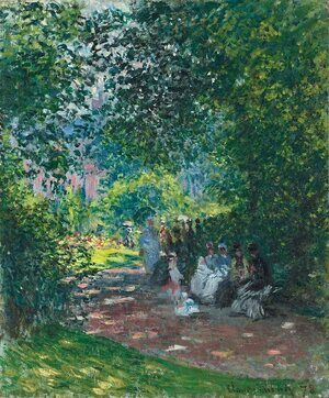 Impressionism painting reproductions: At The Parc Monceau