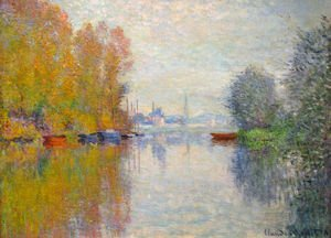 Famous paintings of Nautical: Autumn On The Seine At Argenteuil