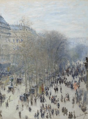 Famous paintings of Trees: Boulevard Des Capucines
