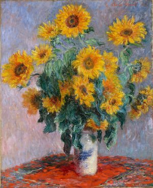 Famous paintings of Vases: Bouquet Of Sunflowers
