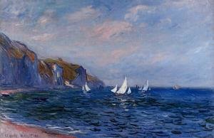 Impressionism painting reproductions: Cliffs And Sailboats At POurville