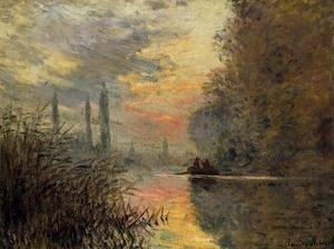 Famous paintings of Ships & Boats: Evening At Argenteuil