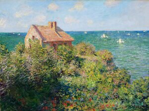 Impressionism painting reproductions: Fishermans Cottage At Varengeville