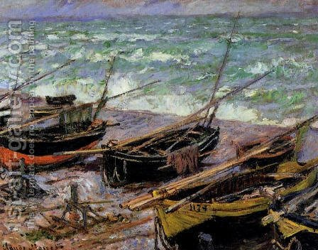 Fishing Boats by Claude Oscar Monet - Reproduction Oil Painting