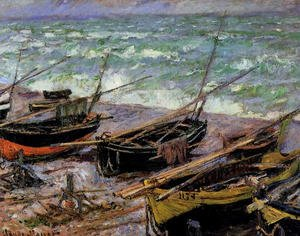 Famous paintings of Ships & Boats: Fishing Boats
