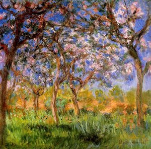 Famous paintings of Trees: Giverny In Springtime