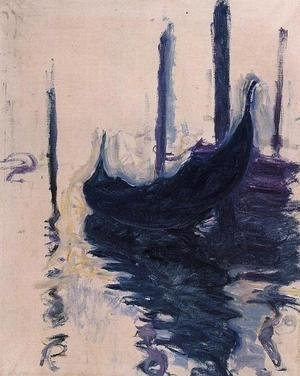 Impressionism painting reproductions: Gondola In Venice
