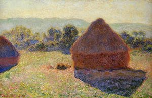 Famous paintings of Summer: Grainstacks In The Sunlight  Midday