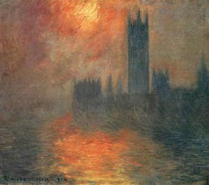 Impressionism painting reproductions: Houses Of Parliament  Effect Of Sunlight In The Fog2