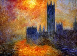 Famous paintings of Nautical: Houses Of Parliament  Sunset