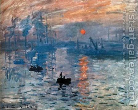 Impression  Sunrise by Claude Oscar Monet - Reproduction Oil Painting