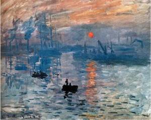 Famous paintings of Ships & Boats: Impression  Sunrise