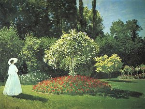 Famous paintings of Landscapes: Jeanne Marguerite Lecadre In The Garden