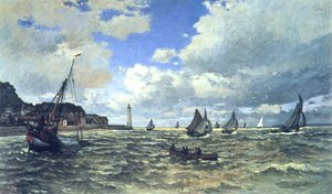 Famous paintings of Ships & Boats: Mouth Of The Seine At Honfleur