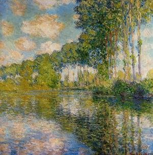 Famous paintings of Clouds & Skyscapes: Poplars On The Banks Of The River Epte
