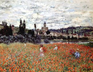 Famous paintings of Nautical: Poppies Near Vetheuil