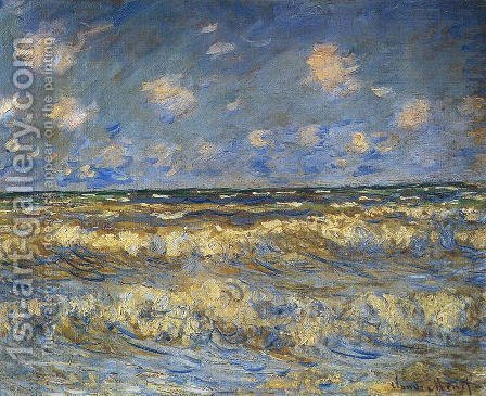 Claude Oscar Monet: Rough Sea - reproduction oil painting