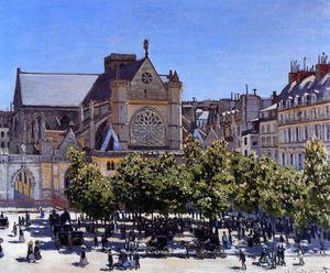 Famous paintings of Squares and Piazzas: Saint Germain L Auxerrois