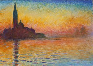 Famous paintings of Ships & Boats: San Giorgio Maggiore At Dusk