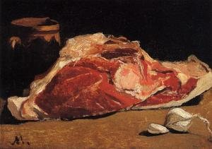 Famous paintings of Meat: Still Life With Meat