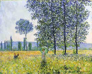Famous paintings of Trees: Sunlight Effect Under The Poplars