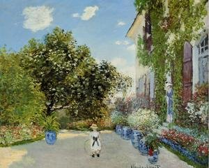 Famous paintings of Trees: The Artists House At Argenteuil