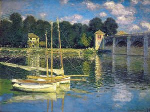 Famous paintings of Ships & Boats: The Bridge At Argenteuil