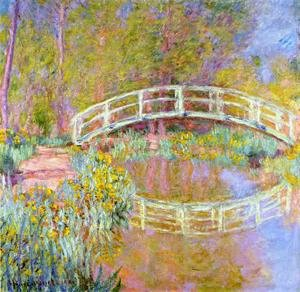 Impressionism painting reproductions: The Bridge In Monets Garden