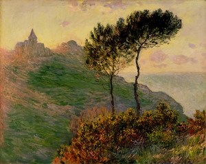 Famous paintings of Nautical: The Church At Varengeville  Against The Sunset