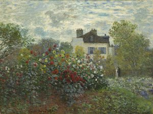 Famous paintings of Landscapes: The Garden At Argenteuil Aka The Dahlias