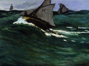 Famous paintings of Storms & Rough Water: The Green Wave