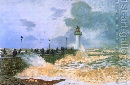 The Jetty At Le Havre by Claude Oscar Monet - Reproduction Oil Painting