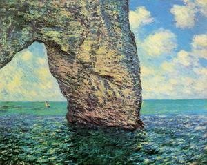 Famous paintings of Ships & Boats: The Manneport At High Tide