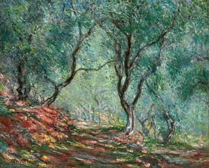 Impressionism painting reproductions: The Olive Tree Wood In The Moreno Garden